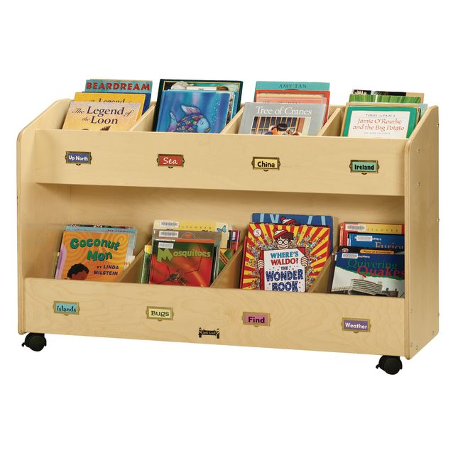 Jonti-Craft® Mobile Book Organizer - 8-Section