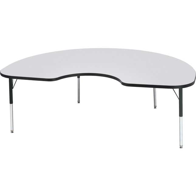 "Jonti-Craft® Berries® Activity Tables - 48"" x 72"" Kidney - Elementary Height"
