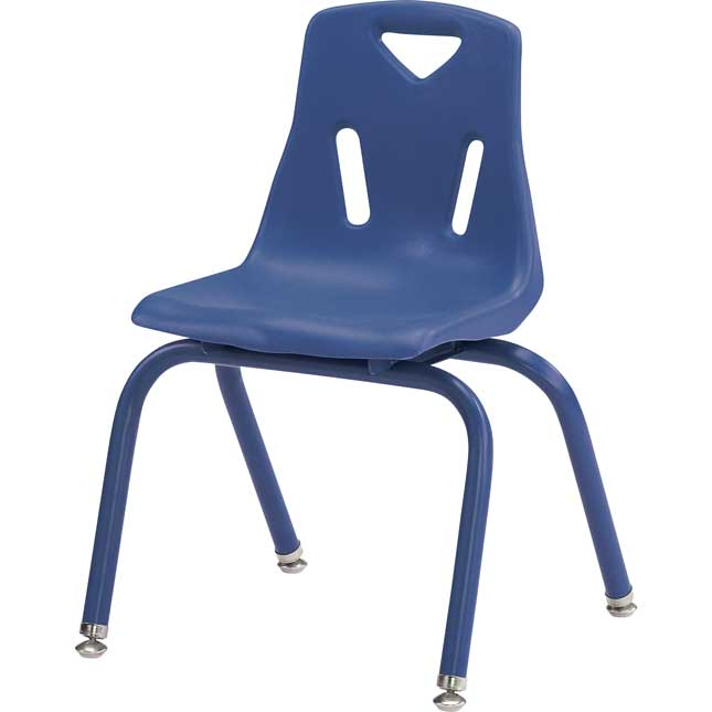"Jonti-Craft® Berries® Stacking Chairs - Powder-Coated - 14"" Seat Height Set Of 6"