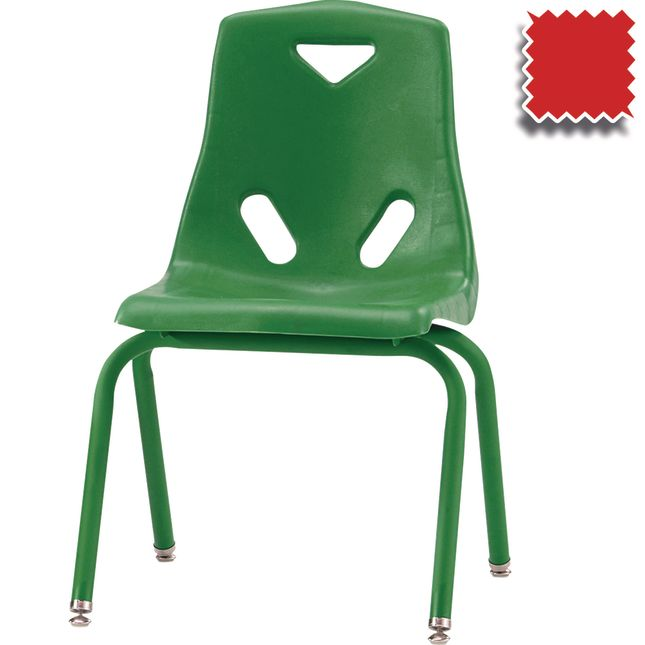 "Jonti-Craft® Berries® Stacking Chairs - Powder Coated - 16"" Seat Height Set Of 6"