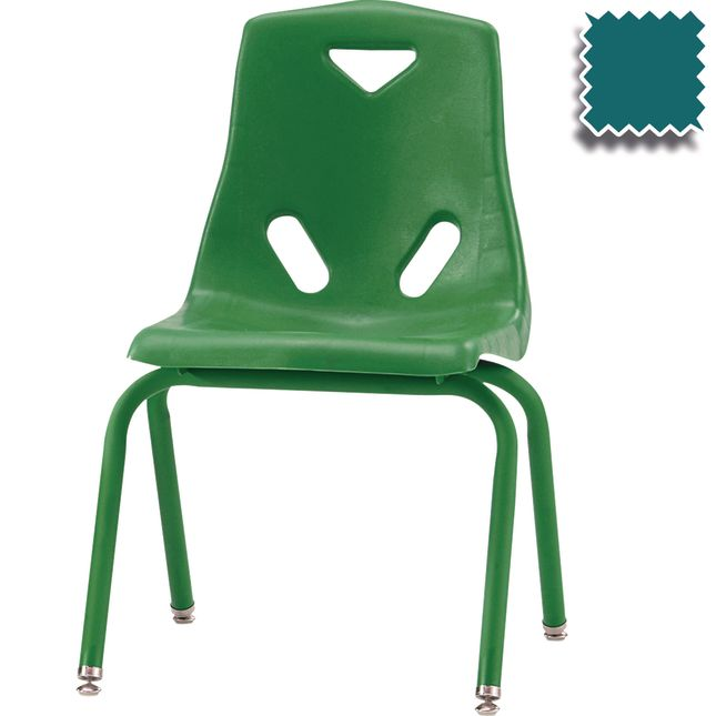 "Jonti-Craft® Berries® Stacking Chairs - Powder Coated - 16"" Seat Height Set Of 6"