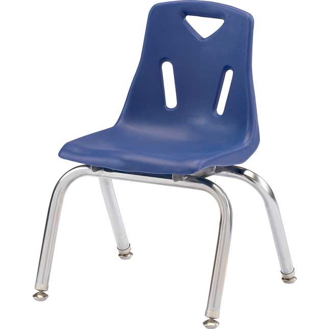 """Jonti-Craft® Berries® Stacking Chairs - Chrome-Plated Legs - 12"""" Seat Height Set Of 6"""
