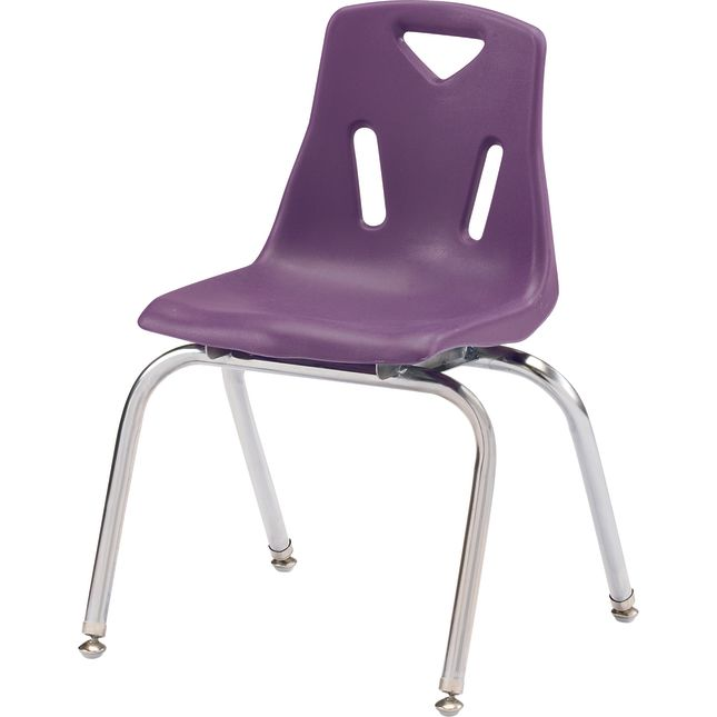 Jonti Craft Berries Stacking Chairs   Chrome Plated Legs   16  Seat Height Set Of 6
