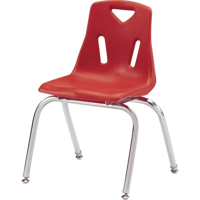 """Jonti-Craft® Berries® Stacking Chairs - Chrome-Plated Legs - 16"""" Seat Height Set Of 6"""