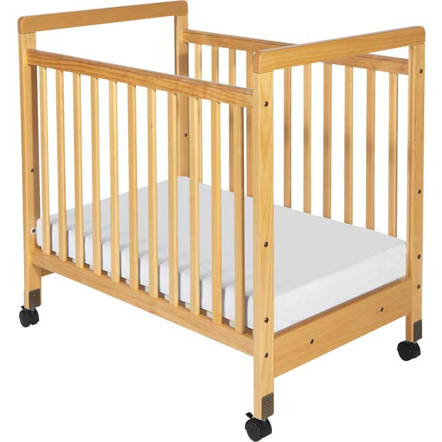 SafetyCraft Compact Clearview Crib In Natural