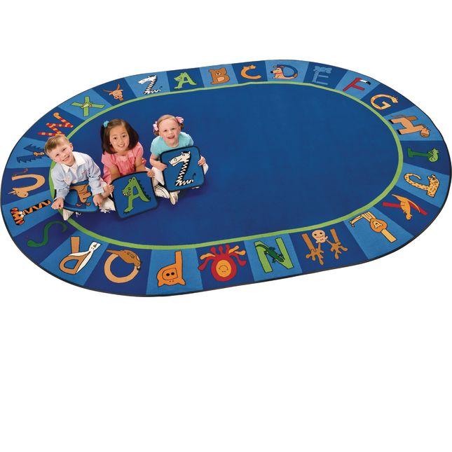 "A To Z Animals Carpet - Oval 8'3""x 11'8"""