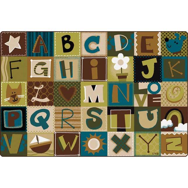 Nature's Alphabet Blocks Carpets - 6' by 9'