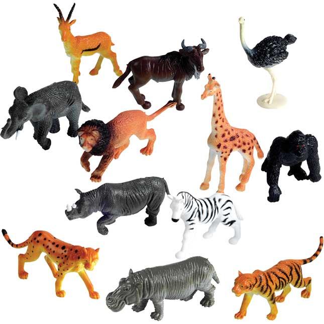 Jungle Animal Counters - Set Of 60