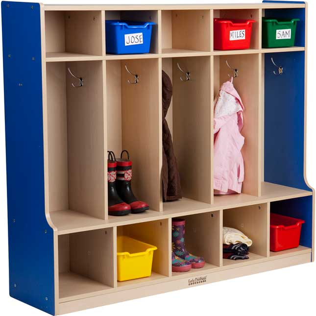 5-Section Coat Locker With Bench