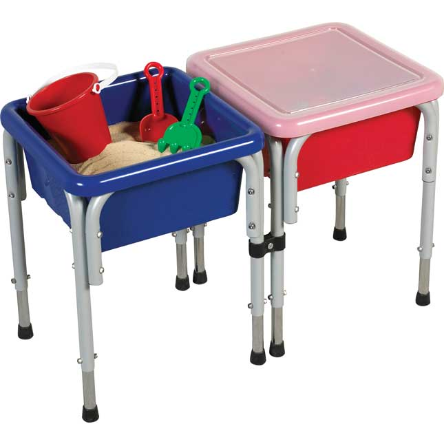 Multi-Station Sand and Water Tables With Lids - 2-Station, Square