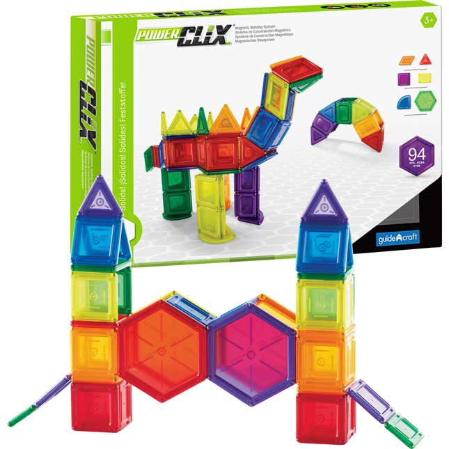 PowerClix® Building Set - Solids - 94-Piece Set