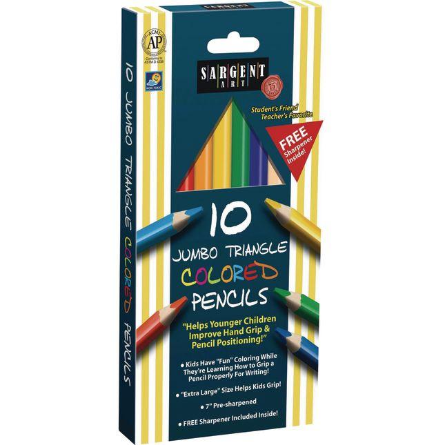 Sargent Art Jumbo Triangular Pencils Set