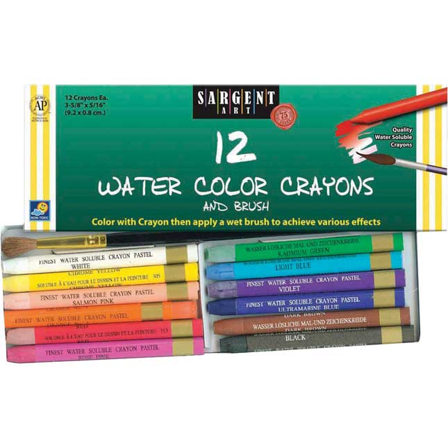 Sargent Art Watercolor Crayon And Brush Sets