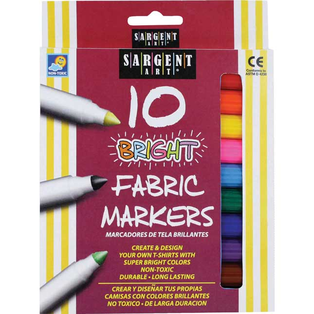 Sargent Art Fabric Markers Set