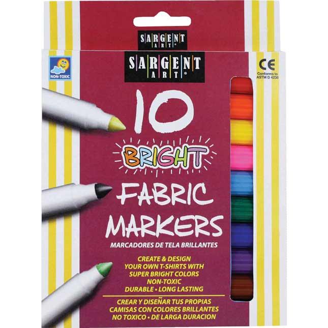 Sargent Art Fabric Markers Set