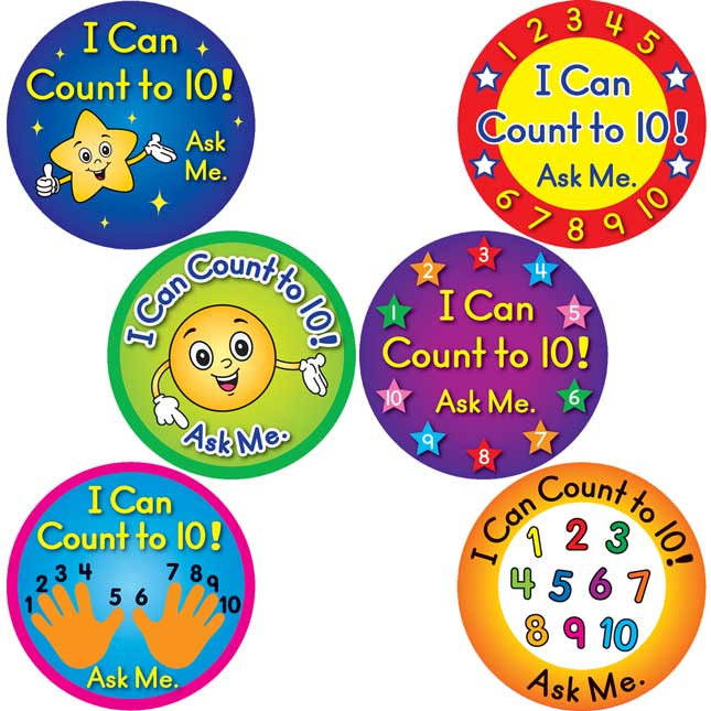 I Can Count To 10! Stickers