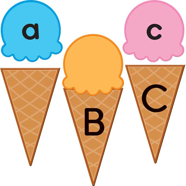 Matching Scoops And Cones Activity™ - Upper And Lowercase Letters