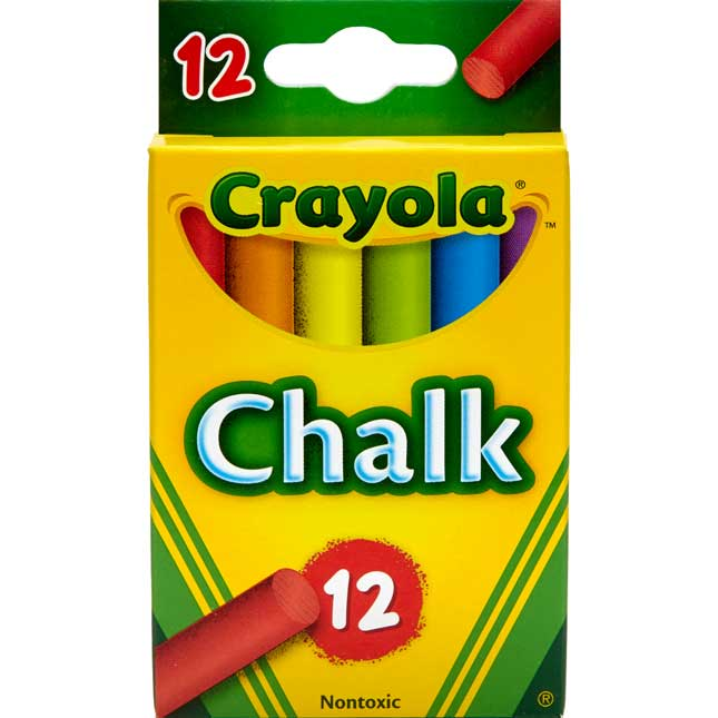 Crayola 12-ct. Multicolored Chalk - Set Of 8