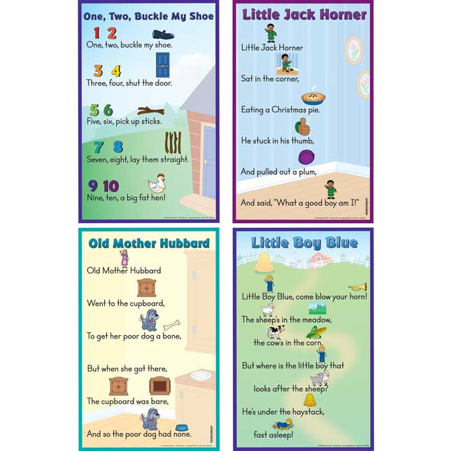 Picture-Clue Nursery Rhymes Poster Set