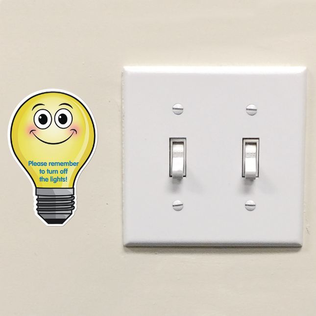 EZ Stick™ Turn Off The Lights Decals - English/Spanish - 26 decals_4