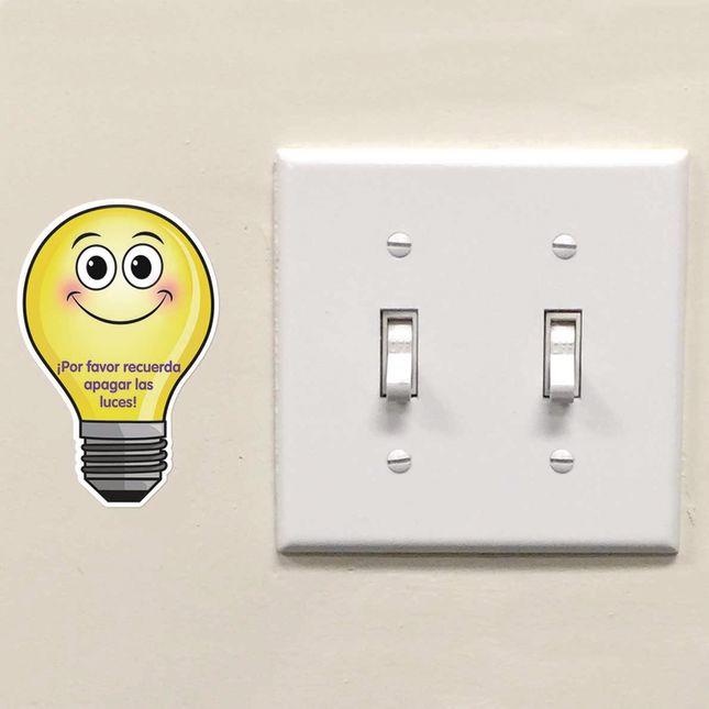 EZ Stick™ Turn Off The Lights Decals - English/Spanish - 26 decals_5