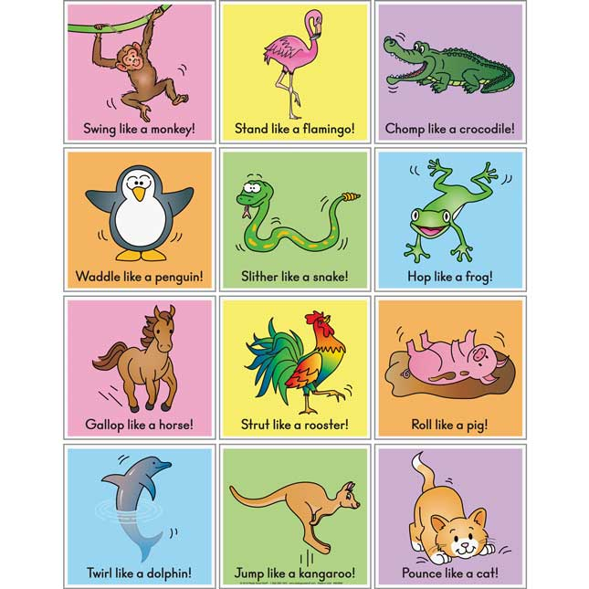 Animal Action Cards