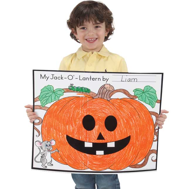 Ready-To-Decorate® Cut And Color Jack-O'-Lantern Posters