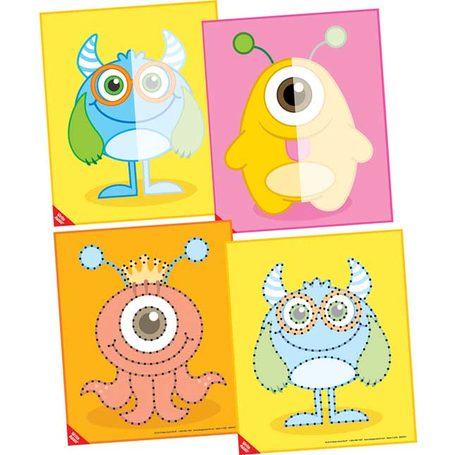 Dry Erase Monster Tracing Mats