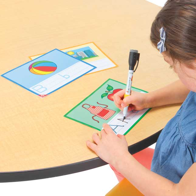 Alphabet Letters Trace-And-Write Cards