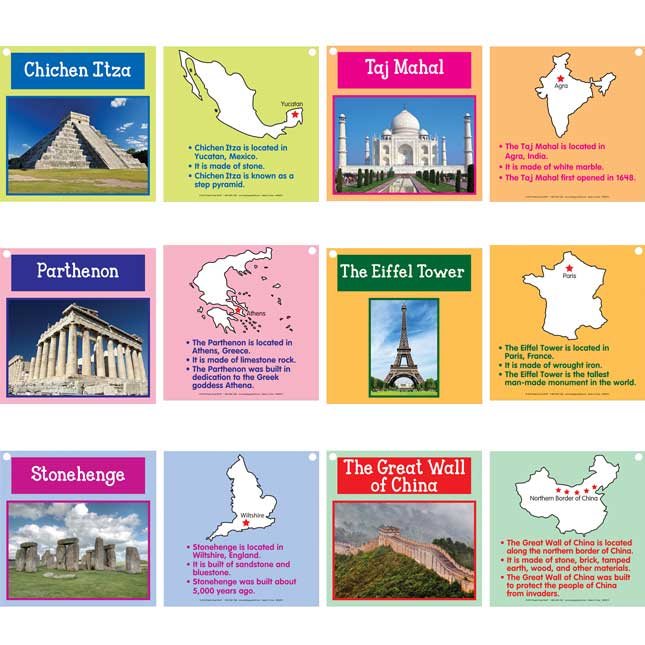 Building Famous Monuments Cards