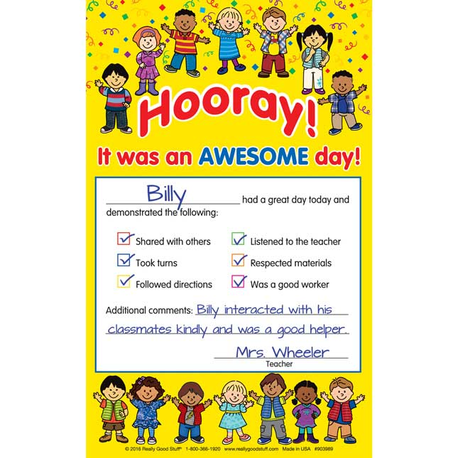 Hooray! Awesome Day! Notes