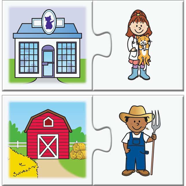 Find-A-Pair Puzzles™ - Community Helpers