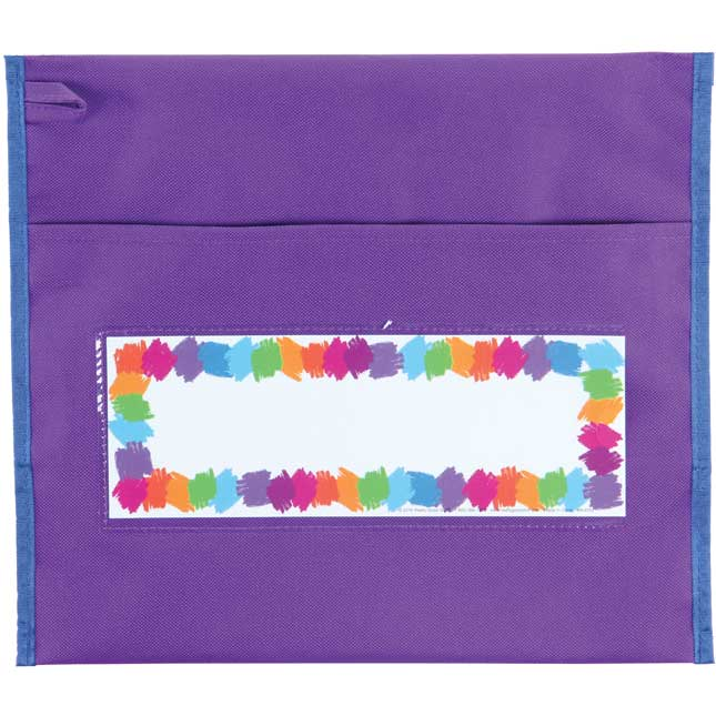 Early Childhood Preschool Chair Pockets - 6 Pack - Purple/ Navy