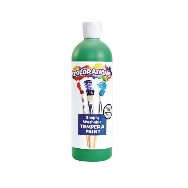 Colorations Green Simply Washable Tempera 16 oz