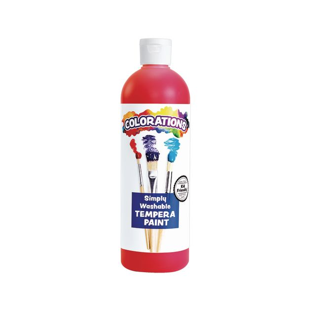 Colorations Red Simply Washable Tempera 16 oz