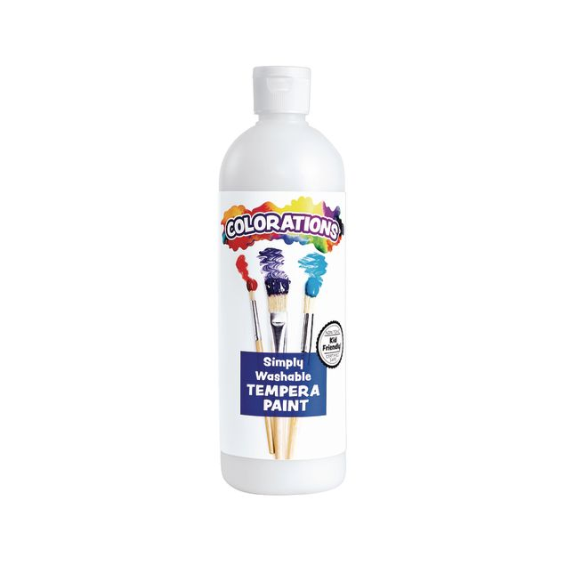 Colorations White Simply Washable Tempera 16 oz