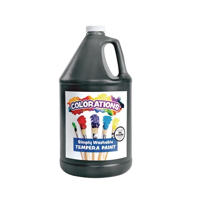 Colorations Gallon of Black Simply Washable Tempera Paint