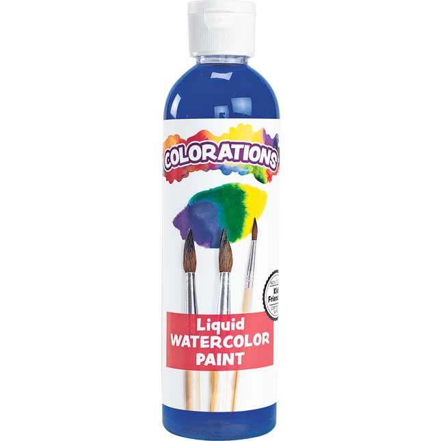 Colorations Liquid Watercolor Paint Blue 8 oz