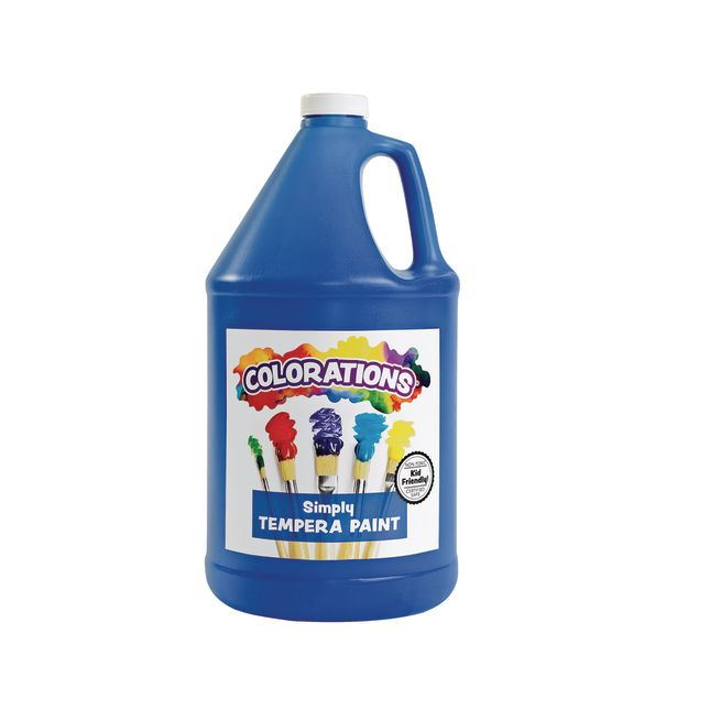 Colorations Simply Tempera Paint Blue 1 Gallon