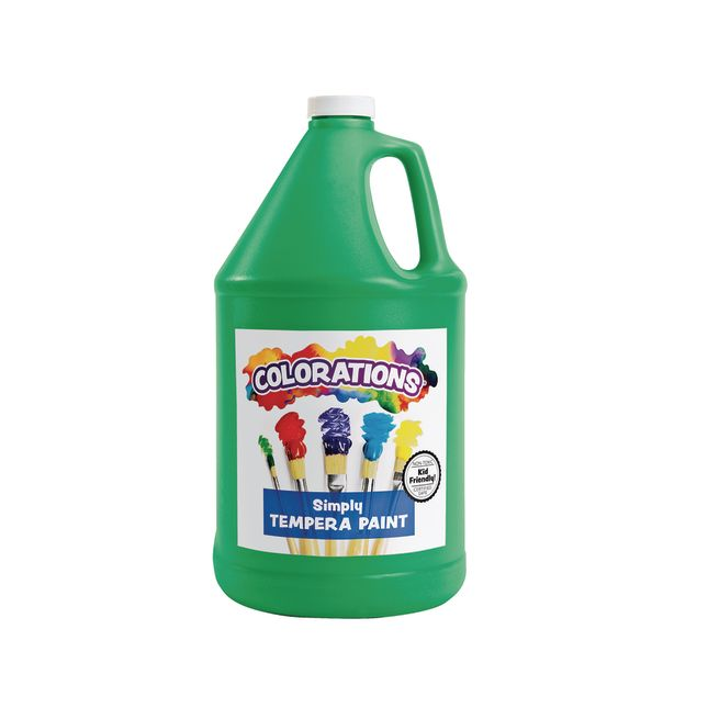 Colorations Simply Tempera Paint Green 1 Gallon
