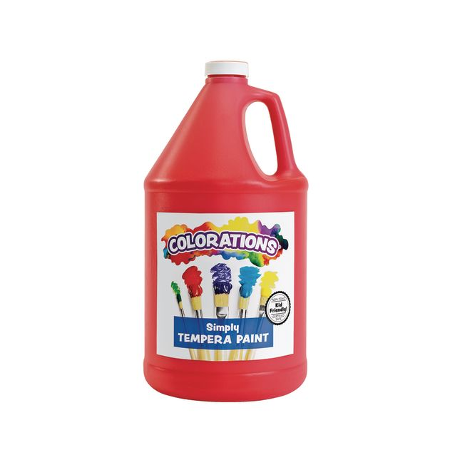 Colorations Simply Tempera Paint Red 1 Gallon