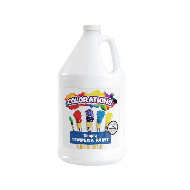 Colorations Simply Tempera Paint White 1 Gallon