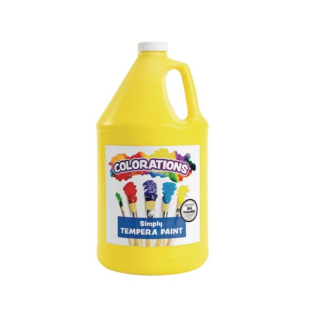 Colorations Simply Tempera Paint Yellow 1 Gallon