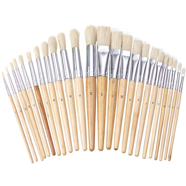 Colorations Best Value Easel Paint Brush Assortment Set of 24