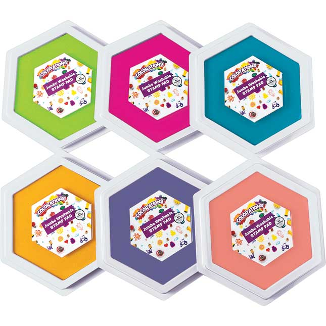 Colorations Candy Colors Jumbo Washable Stamp Pads Set of 6