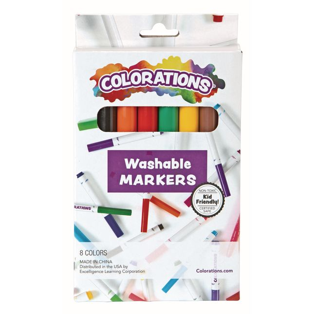 Colorations® Washable Classic Markers - Set Of 8