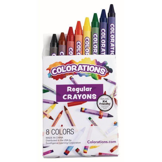 Colorations® Regular Crayons - Set Of 8