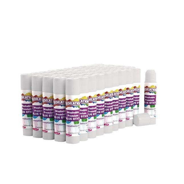 Colorations® Washable Premium Glue Sticks - Set Of 50 - White