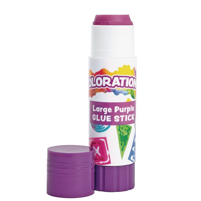 Colorations Best Value Washable Purple Glue Sticks Large  88 oz  Set of 12 in a tray_1