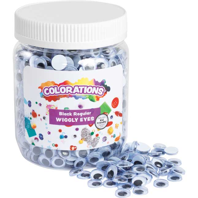 Colorations® Black Wiggly Eyes - 1,000 Pieces
